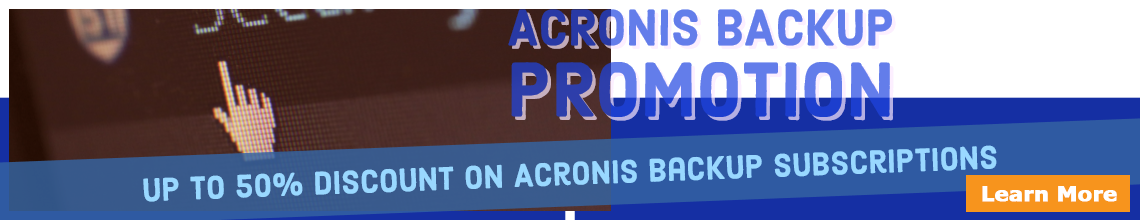 Acronis Cyber Backup Promotion